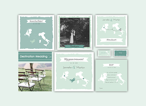 Trouwkaart destination wedding