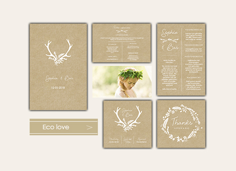 Trouwhuisstijl Eco Love