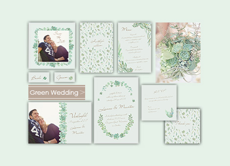 Trouwhuisstijl Green Wedding