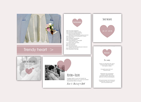 Trouwhuisstijl Trendy Heart