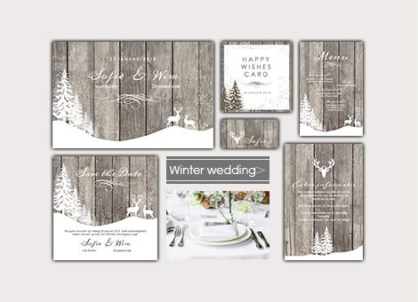 Trouwhuisstijl Winter Wedding